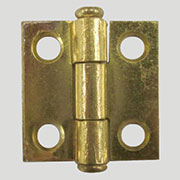 Brass Plated Steel Flat Butt Hinge 1 x 1 inches D-1663