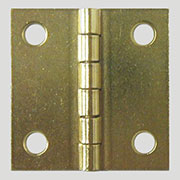 Brass Plated Steel Flat Butt Hinge 1-1/2 x 1-1/2 Inches D-1693