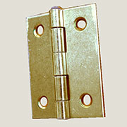 Brass Plated Butt Hinge 2 Inches Long H-6662P