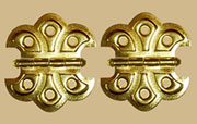Pair of Butterfly Hinges Brass Plated Steel  D-1792 BM-1560PB