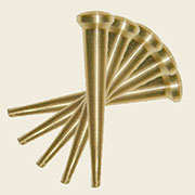 Brass Chair Caning Pegs Quantity of 10 B-7909