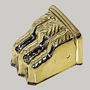 DISCONTINUED WILL NOT SHIP. Duncan Phyfe Straight Stamped Brass Claw Foot CS-7 BM-1375PB