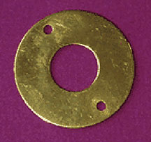 """B"" Brass Crank Hole Cover for Antique Oak Telephone B-9926"