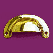 (B)Solid Cast Brass Hoosier Drawer Bin Pull In  B-1310