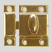 """B"" Vintage Turn Latch for Cupboard Cabinet Brass Plated Stamped Steel. BI-15 D-1442 BM-1618PB"