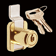 (B)Desk Lock Surface Mount Cylinder Type Brass LH5000P