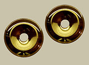 Drawer Pull Eye Bolt Backplates Polished Brass Pair B-0427
