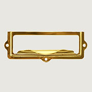 """E"" Brass Label Holder Finger Pull B-3118 BM-1401PB"
