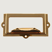 """D"" Brass File Label Holder /w Finger Pull B-3108 BM-1402PB"