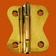 Pair of Polished Brass Hoosier Hinges I-34 BM-1602PB