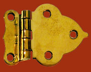 Brass Hoosier Style Hinge Sold by each Not Pairs I-11 BM-1600PB