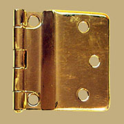 Hoosier Sellers Offset Brass Hinge Sold by Each Not Pairs I-46 BM-1627PB
