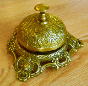 Victorian Hotel Sales Counter Bell in Antique Brass UDB-121