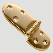 (A) Oval Ice Box Hinge Cast Brass Not Pairs I-8 BM-1502PB B-2087