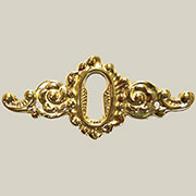 Cast Brass Keyhole Cover Victorian B-0250