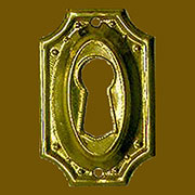 Hepplewhite Keyhole Cover in Stamped Brass B-0101
