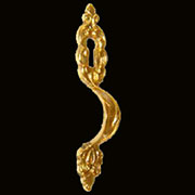 Cast Brass China Cabinet Keyhole Pull B-0230