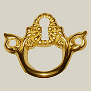 Cast Brass China Cabinet Keyhole Pull B-0247