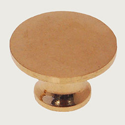 Knob for Stacked Bookcase Brass for Globe Werneke Macey Barrister Bookcases BM-1224-PB 3/4 Inch Diameter B-0339