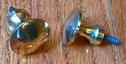 ONLY ONE AVAIALBLE Brass Knob with Wood Screw B-0330