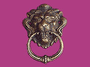 Ring Pull Antique Brass Finished Victorian Lion Head M2-1259B