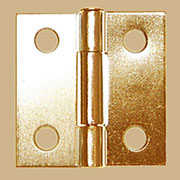 Pair of Loose Pin Brass Plated Steel Butt Hinges.