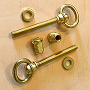 Cheval Swivel Mirror Mounts Screw Bolt Fastener Set F-567P Brass