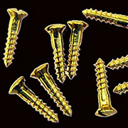 Brass Oval Head Slotted Wood Screws 5 x 5/8  20 Count Polished