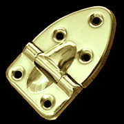 """A"" Trunk Stop Hinge Brass Plated OBD-66BP"
