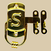 """G"" Sellers S Latch Embossed Brass Left Hand KC-22 BM-1595PB"