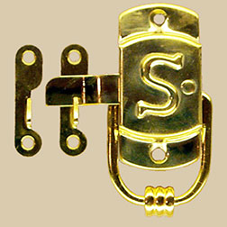 """G"" Sellers S Latch Embossed Brass Right Hand KC-24 BM-1596PB"