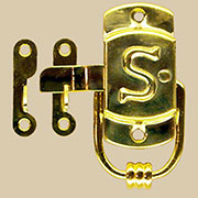 Sellers Letter S Embossed Brass Latch Right Hand KC-24 BM-1596PB