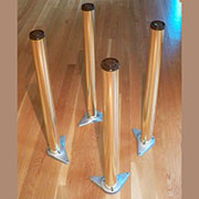 Table Legs Set of 4 in Brass 27.5 Inches Long X-90060P