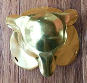 Brass Plated Trunk Corner OBL-1160BP