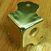 Trunk Corner Brass Plated OBL-1755BP