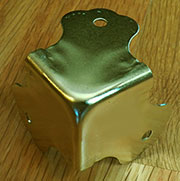 Brass Plated Steel Trunk Corner OBL-3393BP