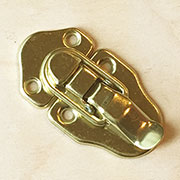 Trunk Draw Bolt Latch in Brass OBL-1790BP D-3910