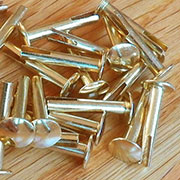 Trunk Rivet 50 Count of 7/8 Inch Brass Plated Steel. D-3771