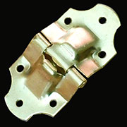 Brass Plated Steel Antique Trunk Stop Hinge OBL-1109BP D-4705