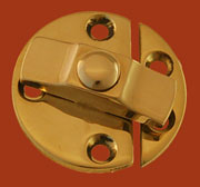 Solid Brass Turn Button Latch BM-1616PB