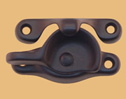 Oil Rubbed Bronze Crescent Sash Lock and Strike