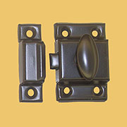 """A"" Oil Rubbed Bronze Cabinet Cupboard Turn Latch Steel 1-7/8"