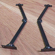 Folding Drop Lid Desk Support Stay, 7 Inch Pair in Bronze Plate S-177L