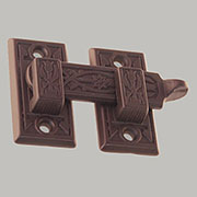 Oil Rubbed Bronze Window Shutter Bar Latch BM-8815OB  Ornate