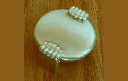 Art Deco Drawer Pull Brushed Brass Finished D-0672