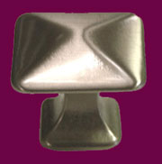 Pyramid Knob Arts and Crafts Mission Style Brushed Nickel K-62BN