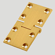 Rectangular Butler Tray Table Hinge 2-1/2 x 1-1/2 Inches Solid Brushed Brass H-3640SQP B-1711 Sold by each