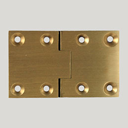 Rectangular Butler Tray Hinge Solid Brass Hardwaretree Com