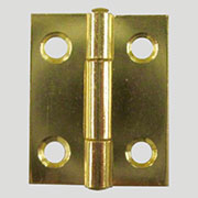 Brass Plated Steel Flat Butt Hinge D-1653