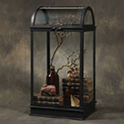 S Large Capital Antique Glass Black Display Case HA-4361-2
